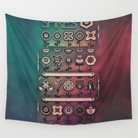 spires Wall Tapestries featuring SPIRES IRRIGATION (2014) by Spires