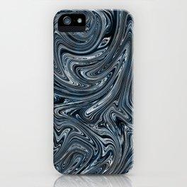 Blue Liquify iPhone Case