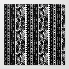 Black Mudcloth Canvas Print