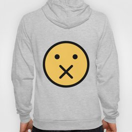 Smiley Face   X Crossed Mouth Hoody