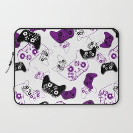 Video Game White & Purple Laptop Sleeve
