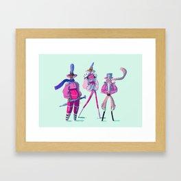 Glitter Warriors Framed Art Print