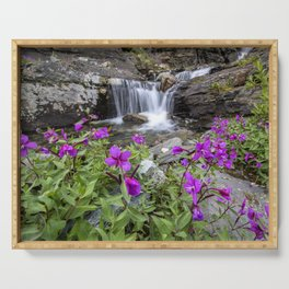 Secluded Waterfall Serving Tray