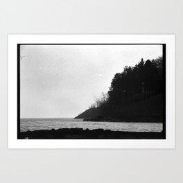 Winter Pier Art Print