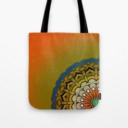 Round Colorful Design Tote Bag