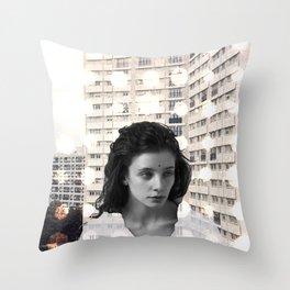 Bundenko collage Throw Pillow