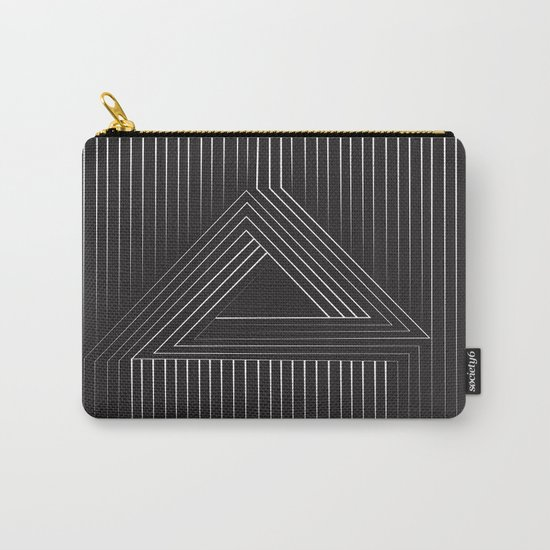 Triangular Line Carry-All Pouch