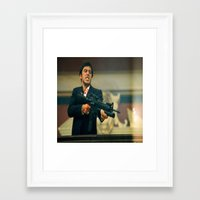scarface Framed Art Prints featuring SCARFACE by I Love Decor