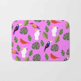 First Songbirds of Spring in Pink Bath Mat