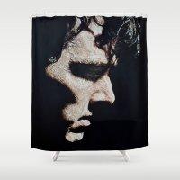 cumberbatch Shower Curtains featuring Benedict Cumberbatch Portrait #2 by RebekahStanhope