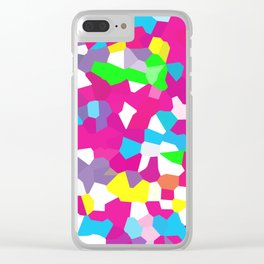 Retro Scribble Clear iPhone Case