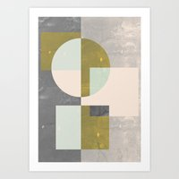 mid century Art Prints featuring Mid century print by FLATOWL