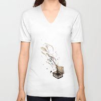 chaos V-neck T-shirts featuring Chaos. by Bezmo Designs