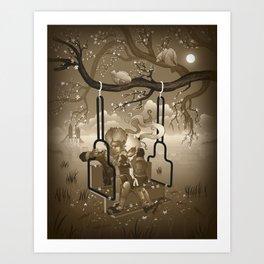 Playground Swing Art Print
