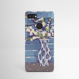Blue Flowers in Vase Android Case