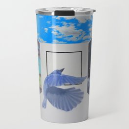 A Brief Encounter With a Blue Bird Travel Mug