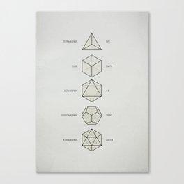 The Platonic Solids Canvas Print