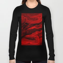 Blood Red Marble Long Sleeve T-shirt