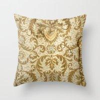 wallpaper Throw Pillows featuring Wallpaper by floor-pies