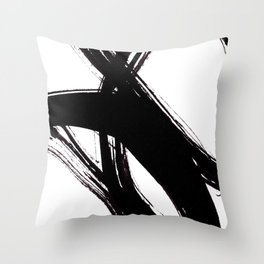 Abstract Wall art, Abstract Print, Black White Abstract Print, Black White Art, Minimalist Print, Ab Throw Pillow