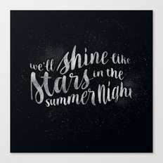Shine Like Stars - Summer Canvas Print