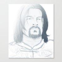 gondor Canvas Prints featuring Boromir of Gondor by Daniella Walker