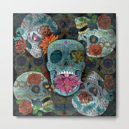 Sugar Skulls Art Metal Print