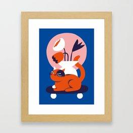 Flowercat Framed Art Print