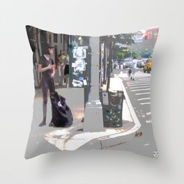 """Getting a Ride"" Throw Pillow"