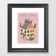Home Grown Framed Art Print