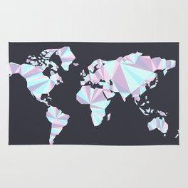 A World in Pastel Rug