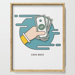 Get Your Cash Back Serving Tray