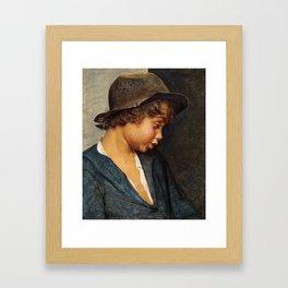 Head Of An Italian Boy by Carl Heinrich Bloch Framed Art Print