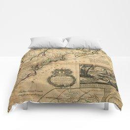Map of North America (British Colonies) 1731 Comforters