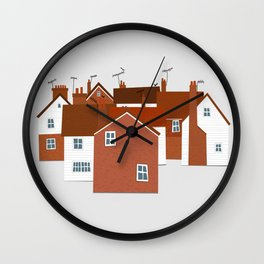 Houses in Kent and Sussex Wall Clock