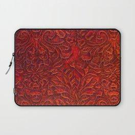 Burnt Orange Textured Abstract Laptop Sleeve