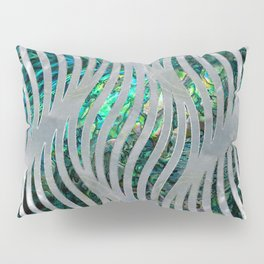 Abstract Ripple  Abalone and Mother of pearl Pillow Sham