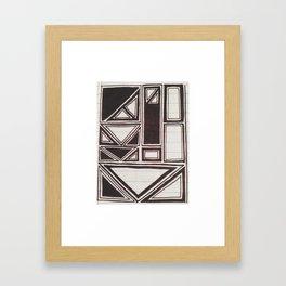 Squares Squared  Framed Art Print