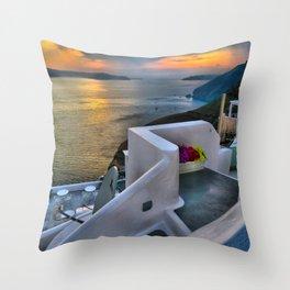 Santorini 4 Throw Pillow