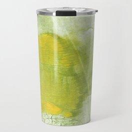 Green abstract aquarelle painting Travel Mug