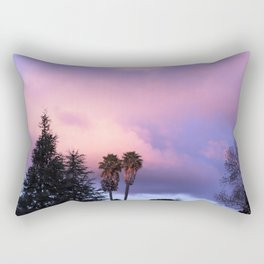 Purple Clouds Rectangular Pillow