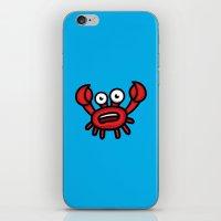 luigi iPhone & iPod Skins featuring Crab Luigi by leondesigns