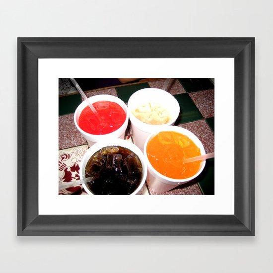 Soda Fountain Framed Art Print