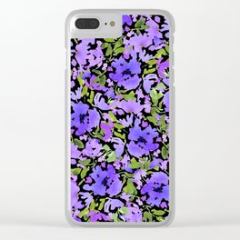 Periwinkle Bouquet Clear iPhone Case