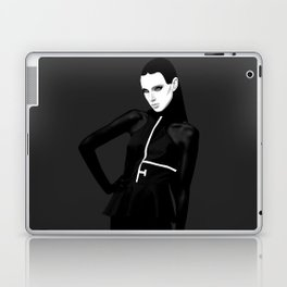 black & little white Laptop & iPad Skin