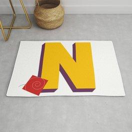 Letter N Rug