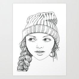 Beanie Cuteness  Art Print