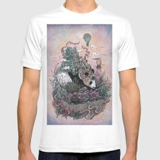 Land of the Sleeping Giant White Mens Fitted Tee MEDIUM