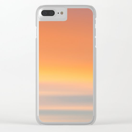 Wind Brush Sunset Clear iPhone Case