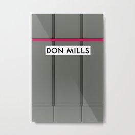 DON MILLS | Subway Station Metal Print